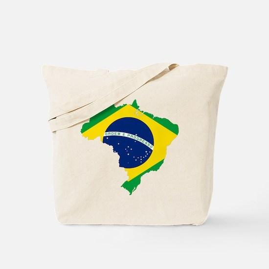 Brazil Flag and Map Tote Bag
