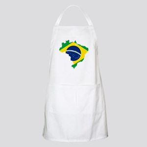 Brazil Flag and Map Apron