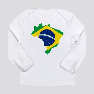 Brazil Flag and Map Long Sleeve Infant T-Shirt