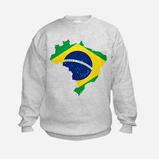Brazil Flag and Map Sweatshirt