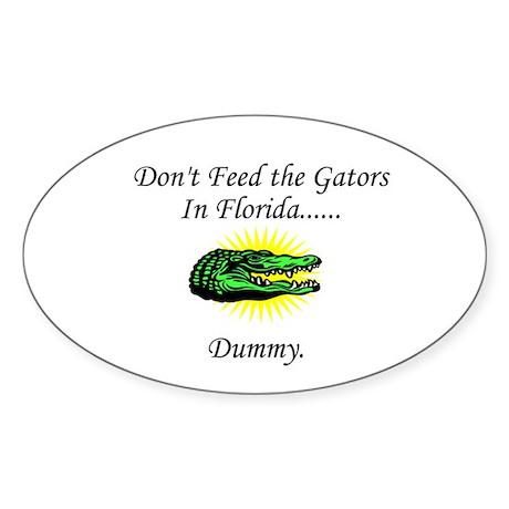 Gator Oval Sticker
