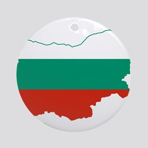 Bulgaria Flag and Map Ornament (Round)