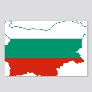 Bulgaria Flag and Map Postcards (Package of 8)