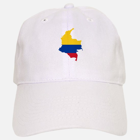 Colombia Civil Ensign Flag and Map Baseball Baseball Cap