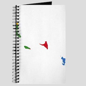 Comoros Flag and Map Journal