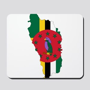 Dominica Flag and Map Mousepad