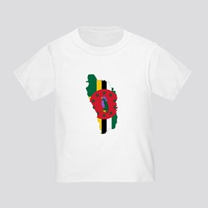 Dominica Flag and Map Toddler T-Shirt
