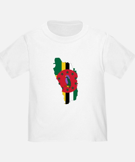 Dominica Flag and Map T