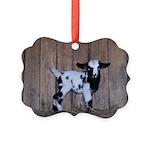 Fainting Goat Picture Ornament #3
