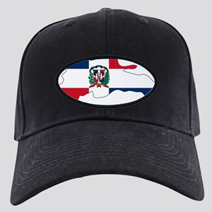 Dominican Republic Flag and Map Black Cap