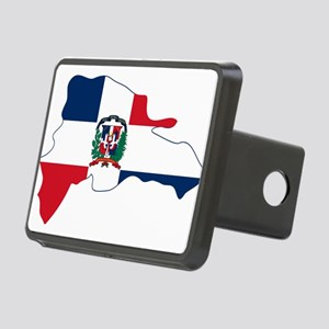 Dominican Republic Flag and Map Rectangular Hitch