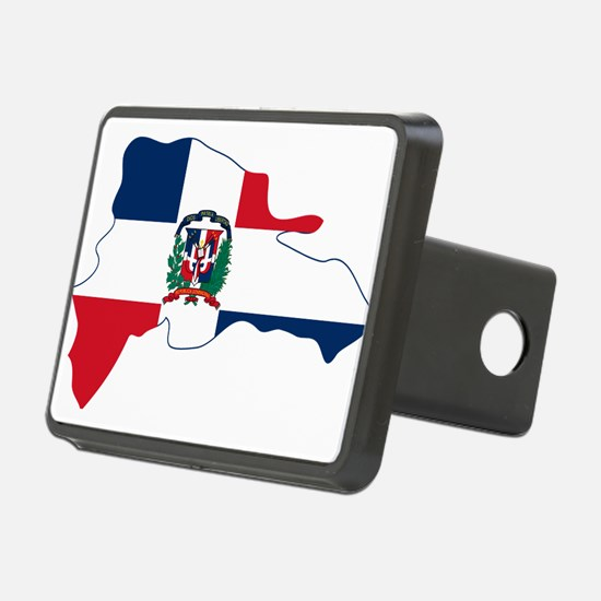 Dominican Republic Flag and Map Hitch Cover