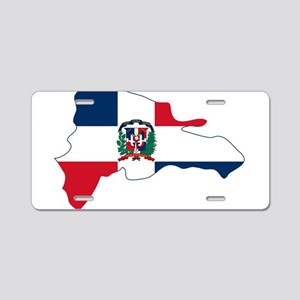 Dominican Republic Flag and Map Aluminum License P
