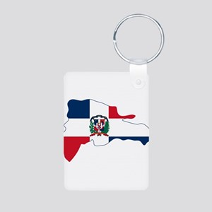 Dominican Republic Flag and Map Aluminum Photo Key