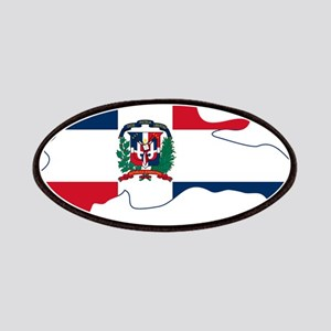 Dominican Republic Flag and Map Patches