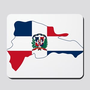 Dominican Republic Flag and Map Mousepad