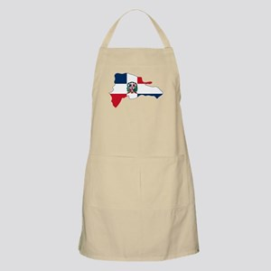 Dominican Republic Flag and Map Apron