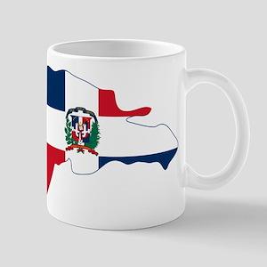 Dominican Republic Flag and Map Mug