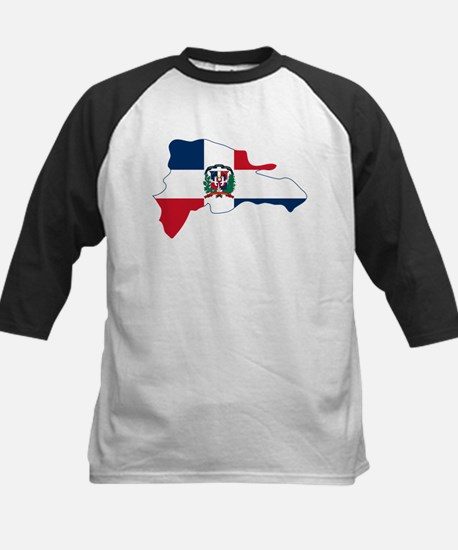 Dominican Republic Flag and Map Kids Baseball Jers