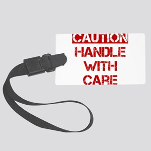 Caution Handle With Care Large Luggage Tag