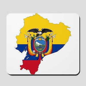 Ecuador Flag and Map Mousepad