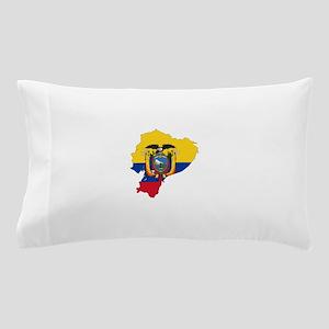 Ecuador Flag and Map Pillow Case