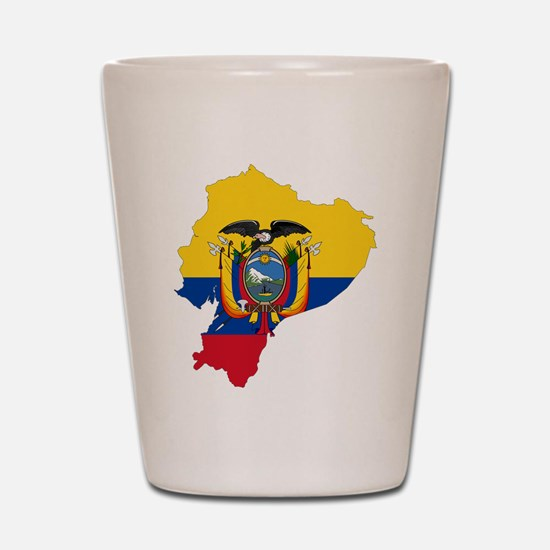 Ecuador Flag and Map Shot Glass