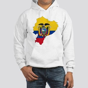 Ecuador Flag and Map Hooded Sweatshirt