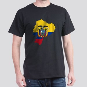 Ecuador Flag and Map Dark T-Shirt