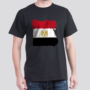 Egypt Flag and Map Dark T-Shirt