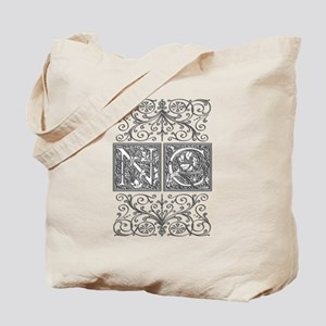 NC, initials, Tote Bag
