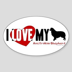 Australian Shepherd Sticker (Oval)