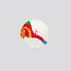 Eretria Flag and Map Mini Button