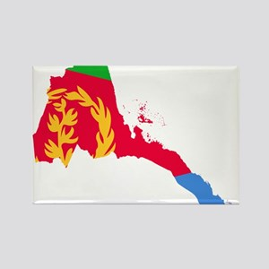 Eretria Flag and Map Rectangle Magnet