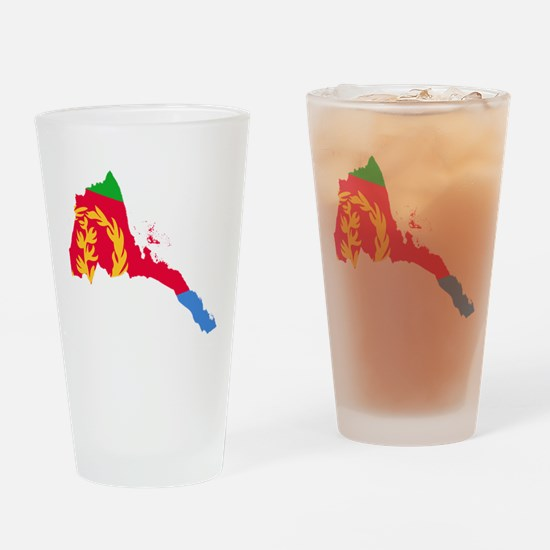 Eretria Flag and Map Drinking Glass