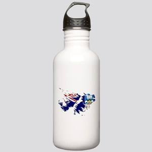 Falkland Islands Flag and Map Stainless Water Bott