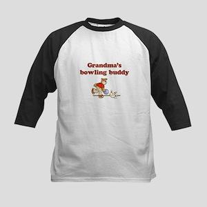Grandma's Bowling Buddy Kids Baseball Jersey