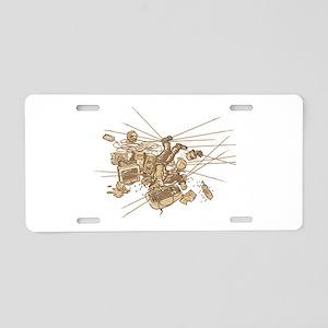 Office Trap Aluminum License Plate
