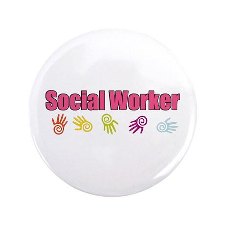 "Social Worker Girl 3.5"" Button (100 pack)"