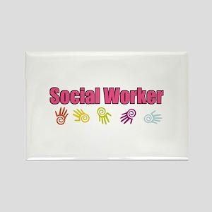 Social Worker Girl Rectangle Magnet