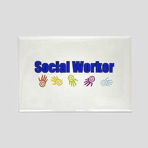 Social Worker Man Rectangle Magnet