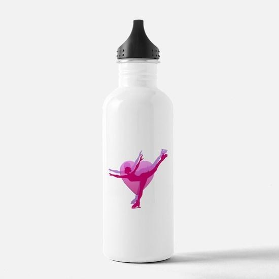 Skater Silhouette Sports Water Bottle