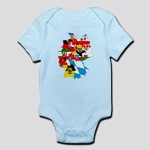 Germany Subdivisions Flag and Map Infant Bodysuit