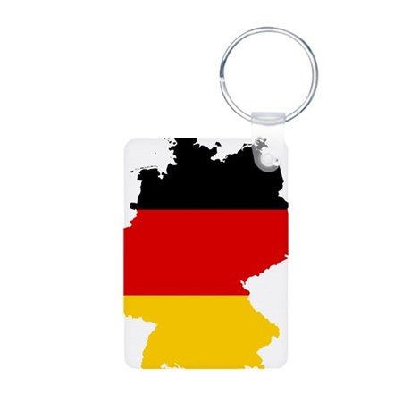 Germany Subdivisions Flag and Map Aluminum Photo K