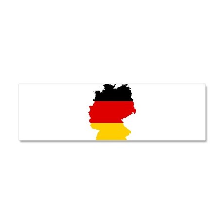 Germany Subdivisions Flag and Map Car Magnet 10 x
