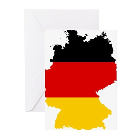 Germany Subdivisions Flag and Map Greeting Cards (