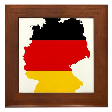 Germany Subdivisions Flag and Map Framed Tile