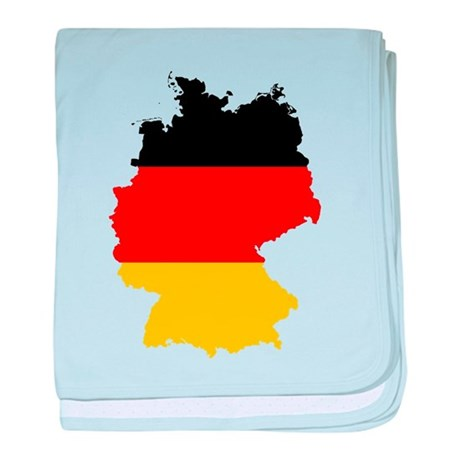 Germany Subdivisions Flag and Map baby blanket