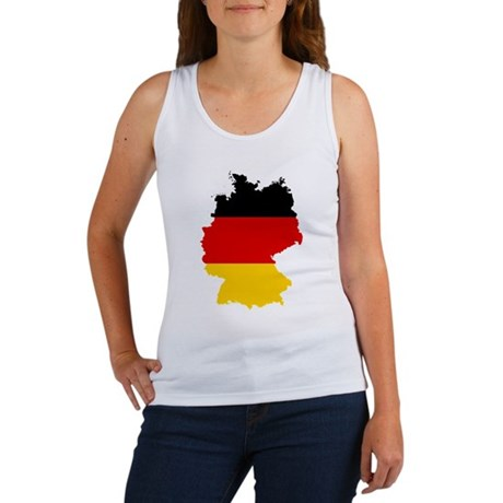 Germany Subdivisions Flag and Map Women's Tank Top