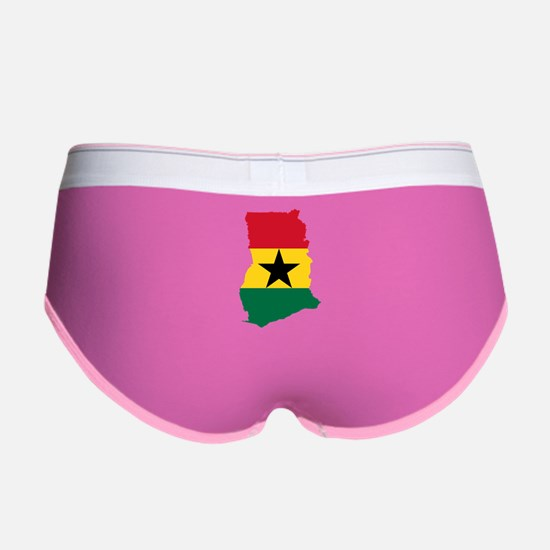 Ghana Flag and Map Women's Boy Brief